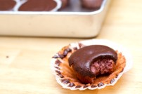 gluten free strawberry chocolate cupcake