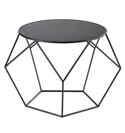 table basse design metal noire