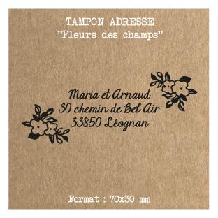 tampon-adresse-mariage-personnalise-Fleurs