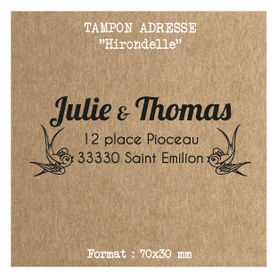 tampon-adresse-mariage-personnalise-Hirondelle