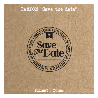 Tampon-Save-the-date-Postal