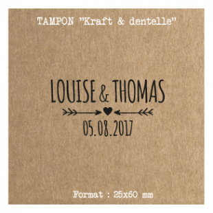 tampon-mariage-personnalise-Fleche-coeur
