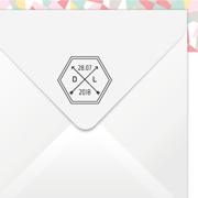 tampon-mariage-prenoms-geometrique-hexagone
