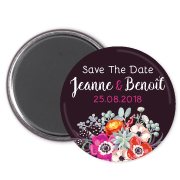 magnet save the date anemone-bouquet-bd