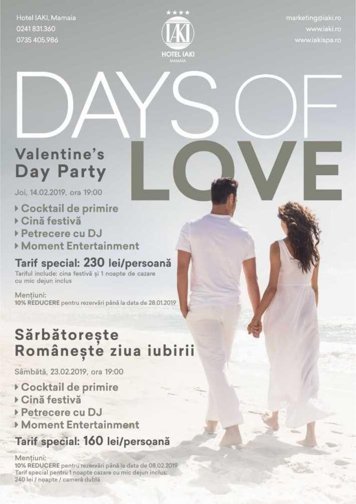 Petrecere Days of Love CTA
