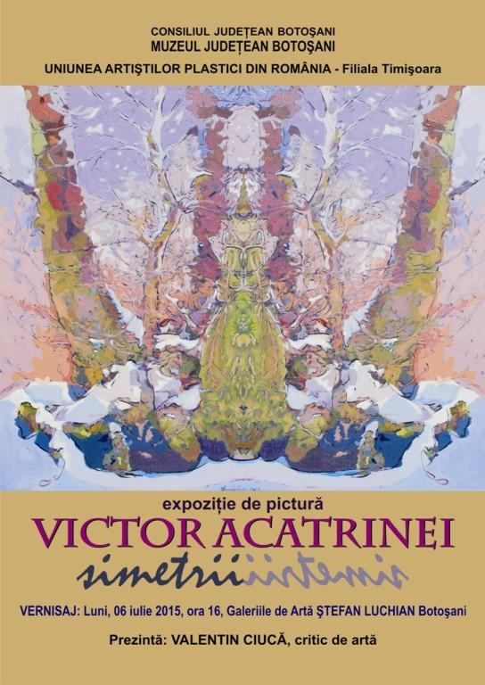 afis expozitie victor acatrinei </p srcset=