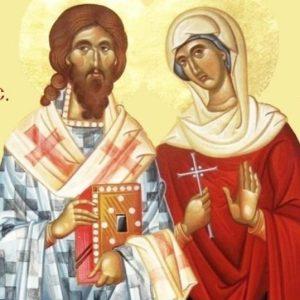 Sfinții Mucenici Zenovie episcopul și Zenovia sora sa sunt cinstiți astăzi