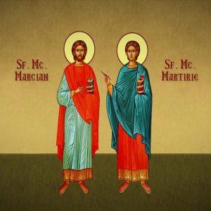 Sfinții Mucenici Marcian și Martirie uciși de arieni sunt prăznuiți astăzi