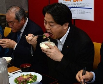 Japan's Prime Minister - don't try this at home!