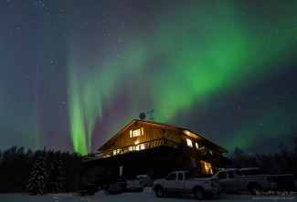 Northern Lights over Grizzly Lodge