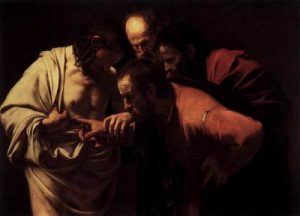 Caravaggio - The Incredulity of Thomas (1601)