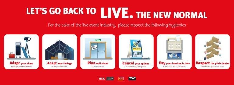 Back to Live : l'ACC, l'Event Confederation et l'UBA appellent à plus de rigueur dans le monde de l'événementiel post-Covid