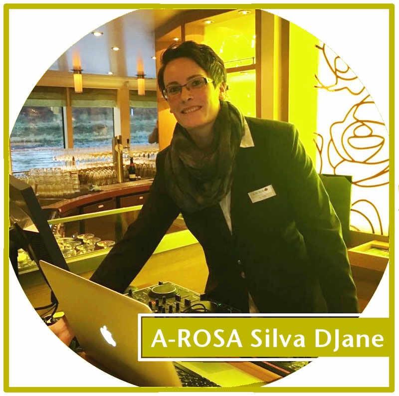 DJane Tilly auf Flusskreuzfahrt bei Arosa