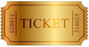 Willy Wonka theme golden ticket