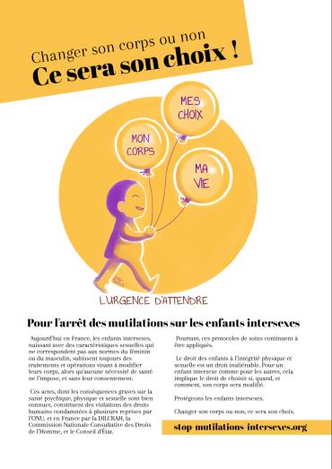 Affiche campagne visibilité intersexe 2018