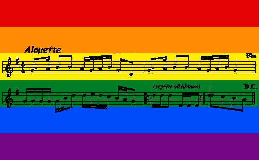 drapeau LGBT avec partition