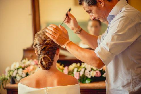 Luis Ramos, peluquería boda