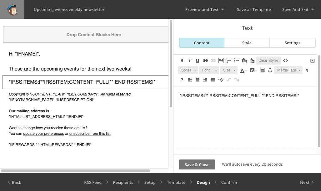 mailchimp-adding-rss-block