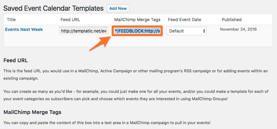 Creating An Automatic Mailing Of Your Events With Mailchimp Event