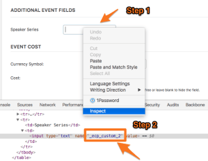 Additional Fields with The Events Calendar Shortcode