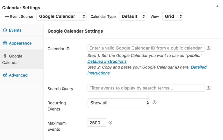 google-calendar-settings-wordpress