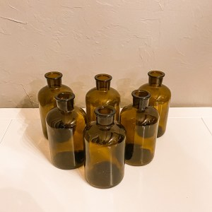 vintage amber bud vases