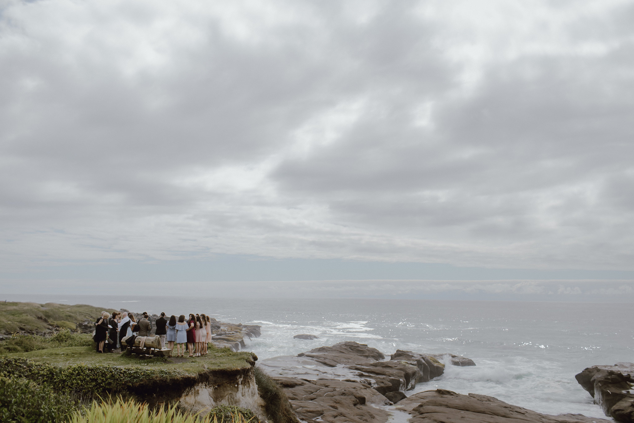 This bluff overlooking the ocean is the absolute perfect spot to tie the knot!! It