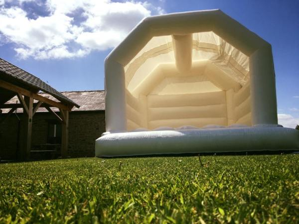 White Wedding Bouncy Castle from Eventech UK