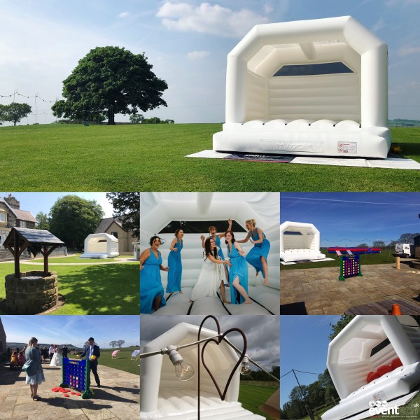 White Bouncy Castle Hire from Eventech UK