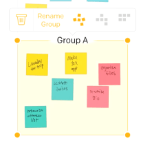 post it plus app rename group