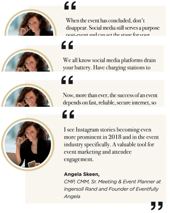 social media fo events quotes