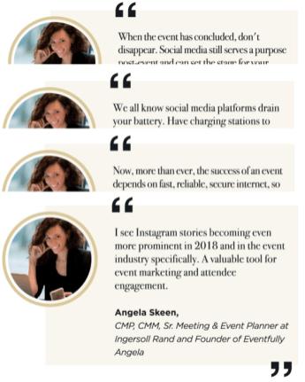 social media fo events quotes