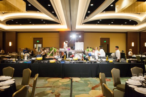 Behind the scenes set-up Ritz Carlton Amelia Island- Live Kitchen Experience. Photo by Photography Concierge
