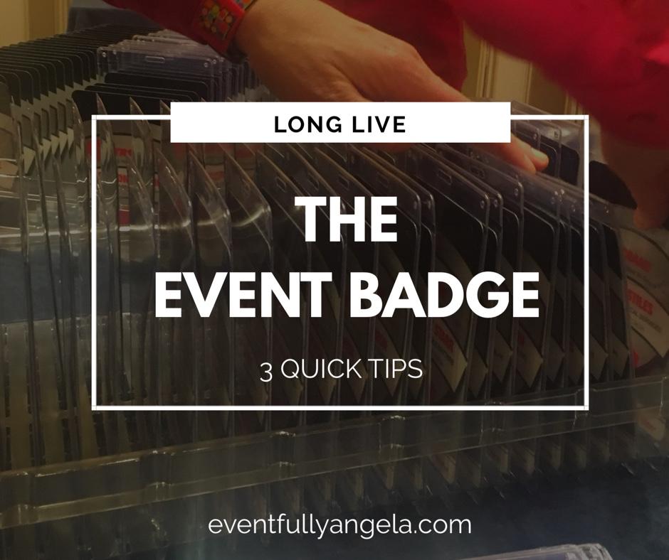event badge