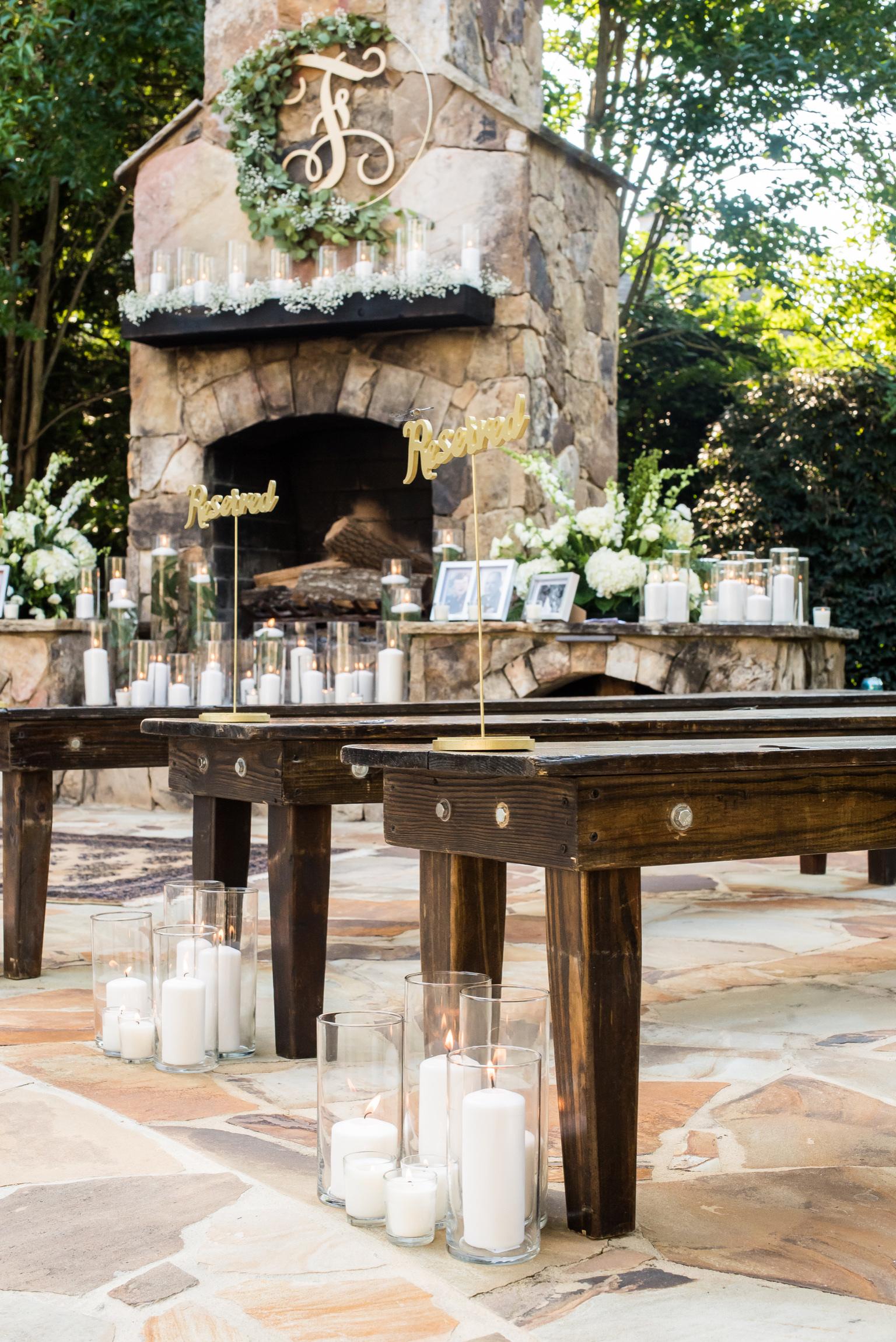 outdoor patio wedding