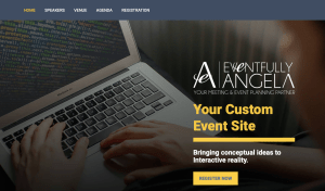 Corporate event website sample