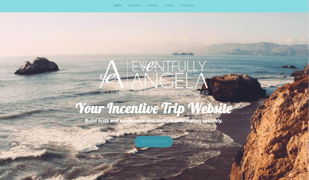 Incentive event website sample