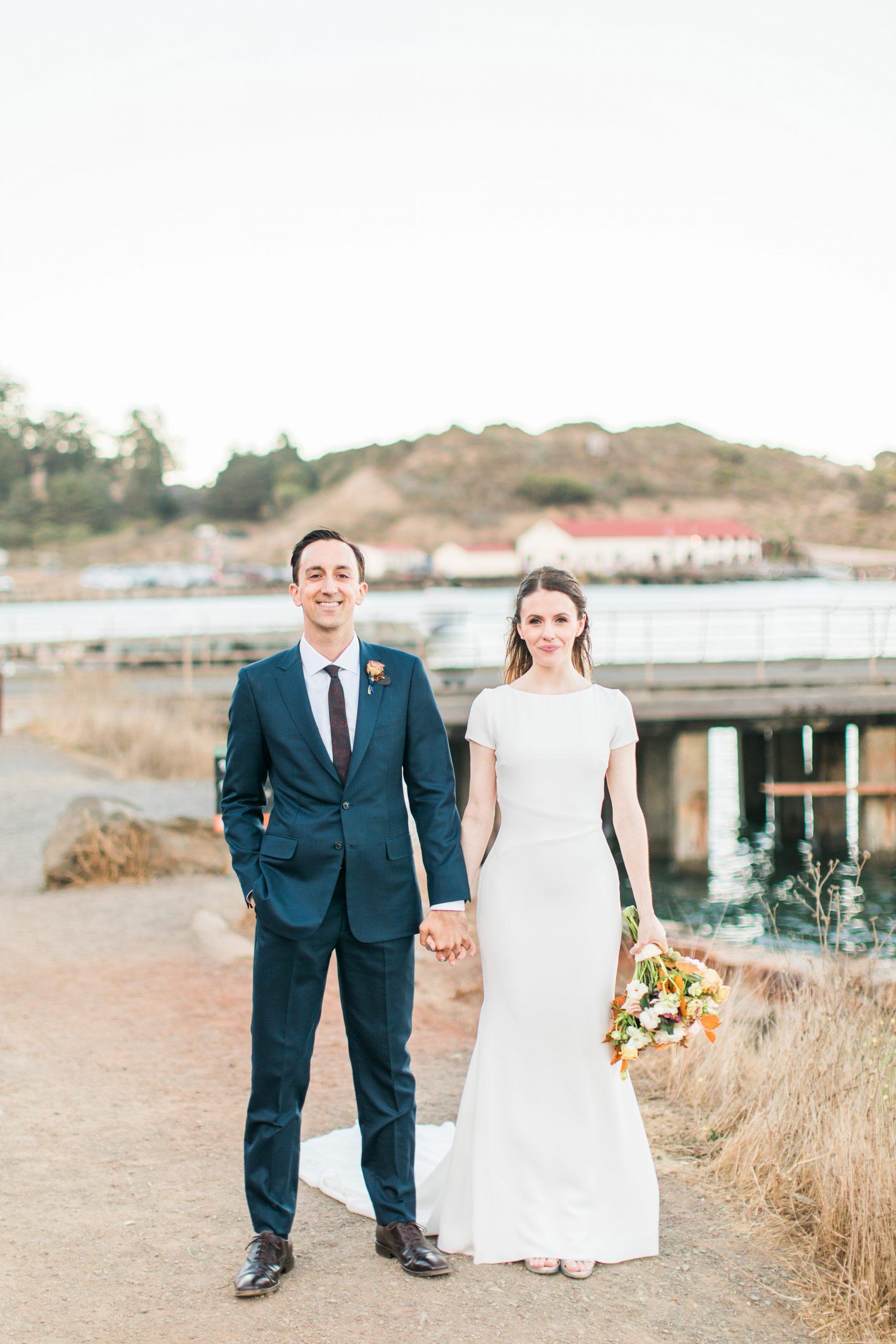 Warm, Autumn Wedding with the Golden Gate Bridge at Cavallo Point