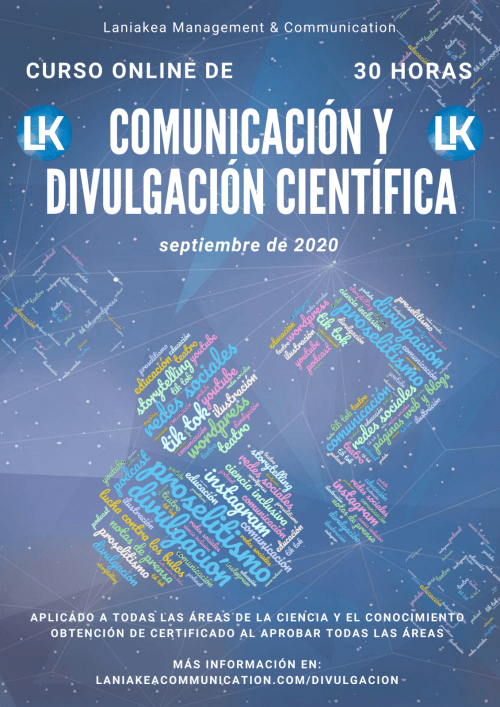 Curso online de Técnicas de Comunicación y Divulgación Científica LANIAKEA