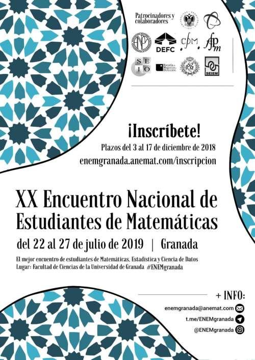 XX Encuentro Nacional de Estudiantes de Matemáticas 2019