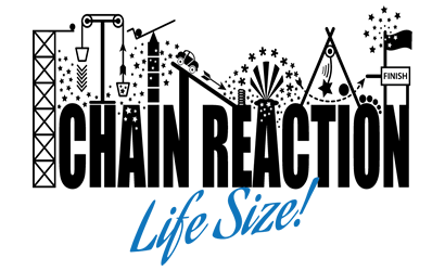chain reaction life size feature logo