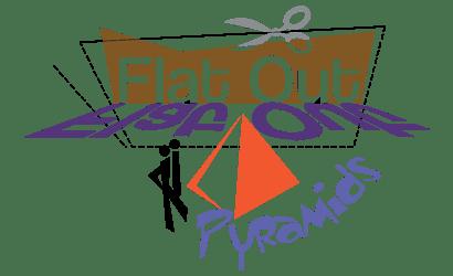 flatout pyramid feature logo