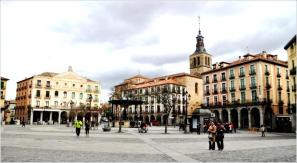 Gincana con tablets _Plaza Mayor de Segovia