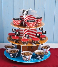 expositor cup cake pirata