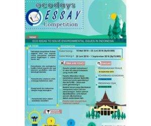 ECODAYS Essay Competition 2018