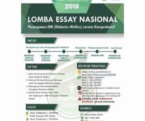 Lomba Essay Nasional PHARMACOPE UNS 2018