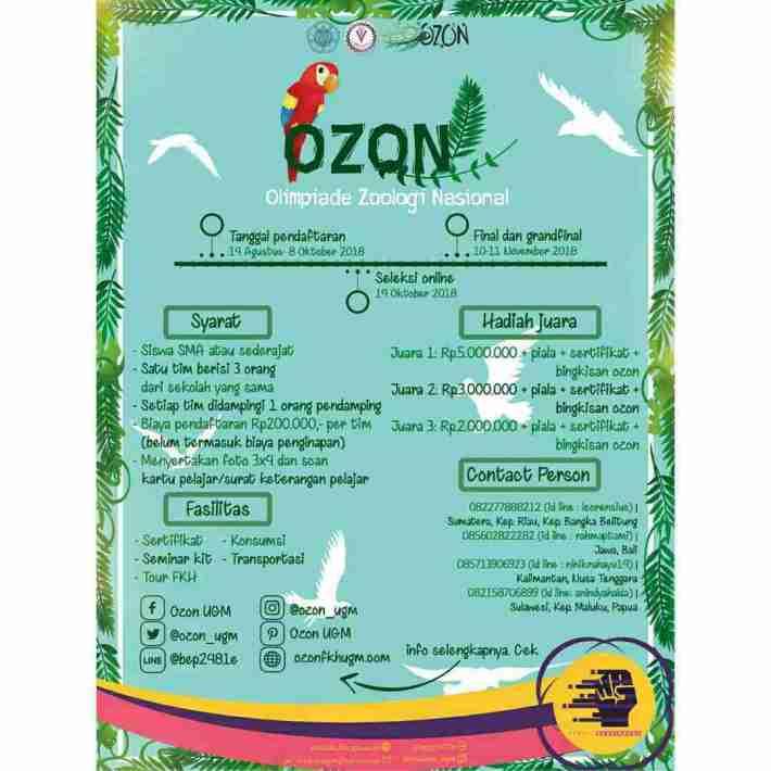 Olimpiade Zoologi Nasional (OZON) 2018