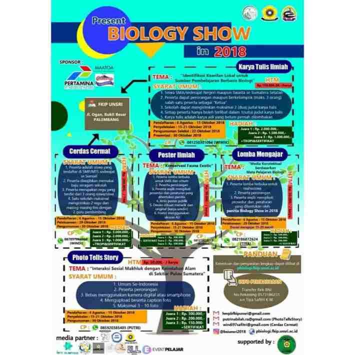 Biology Show In 2018 HMPB UNSRI