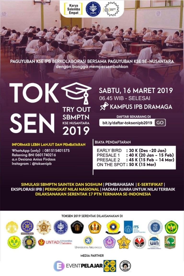 [Try Out KSE Nusantara (TOKSEN) IPB 2019]