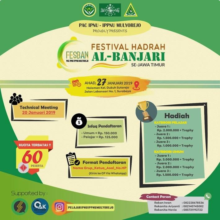 Festival Hadrah Al-Banjari SE-JATIM 2019
